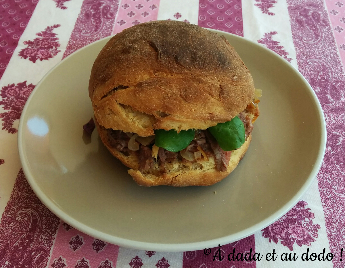 Hamburger à la figue