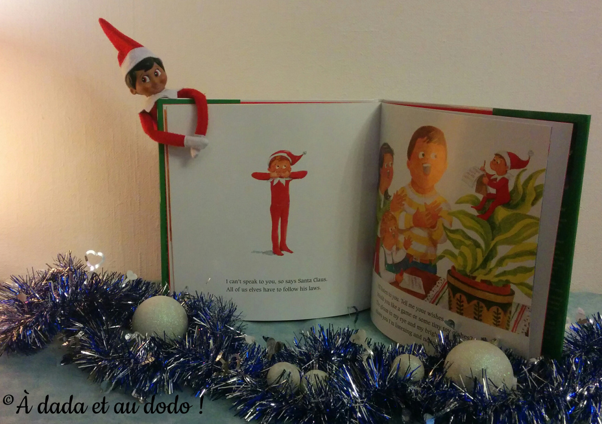 Livre et lutin : The Elf on the Shelf